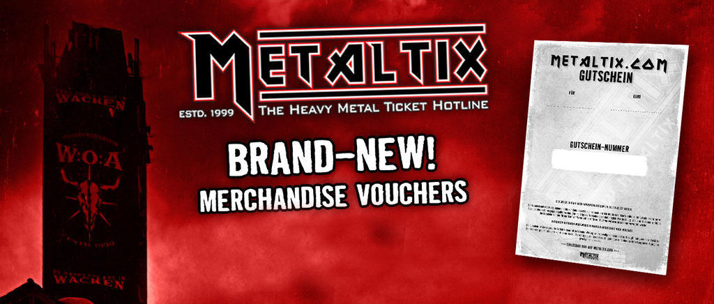Brand New! Vouchers for our merch shop!