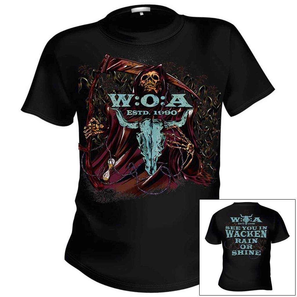 W:O:A - T-Shirt - Reaper - Back: See you in Wacken -