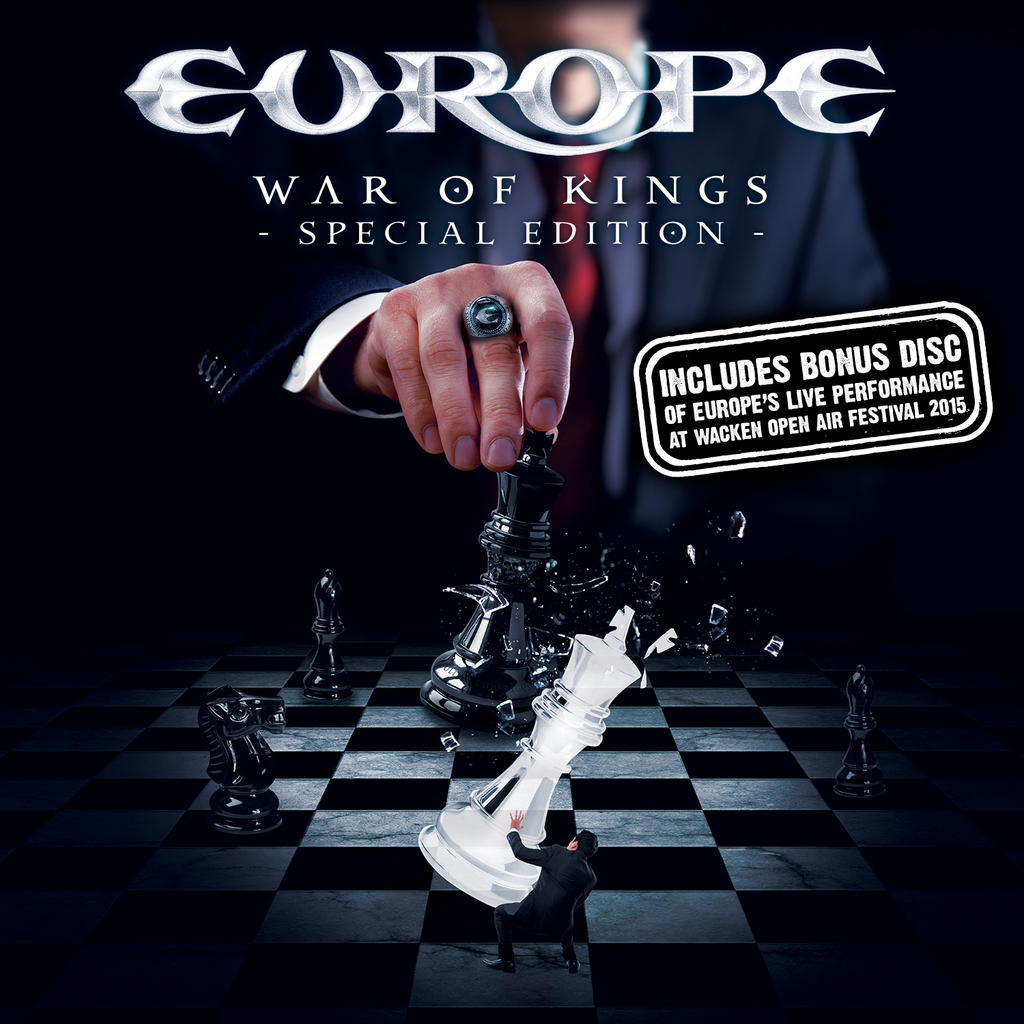 "Europe - Ecolbook (2 Discs) Studio album on CD + ""BLURAY - Live at WACKEN 2015"" - War of Kings - Special Edition -"