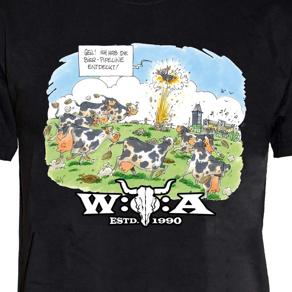 W:O:A - T-Shirt - Comic Beer Pipeline -