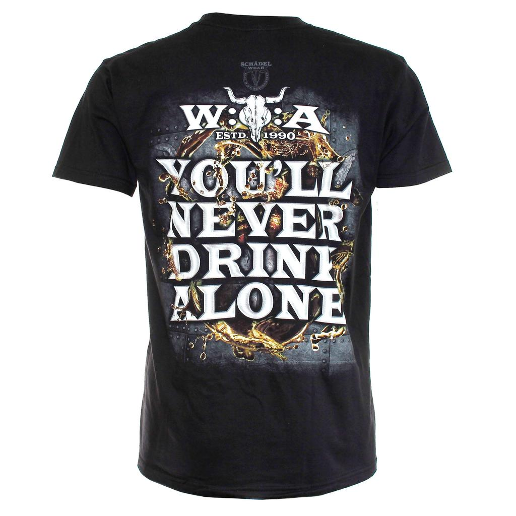 W:O:A - T-Shirt - You Never Drink Alone - zeitlos -