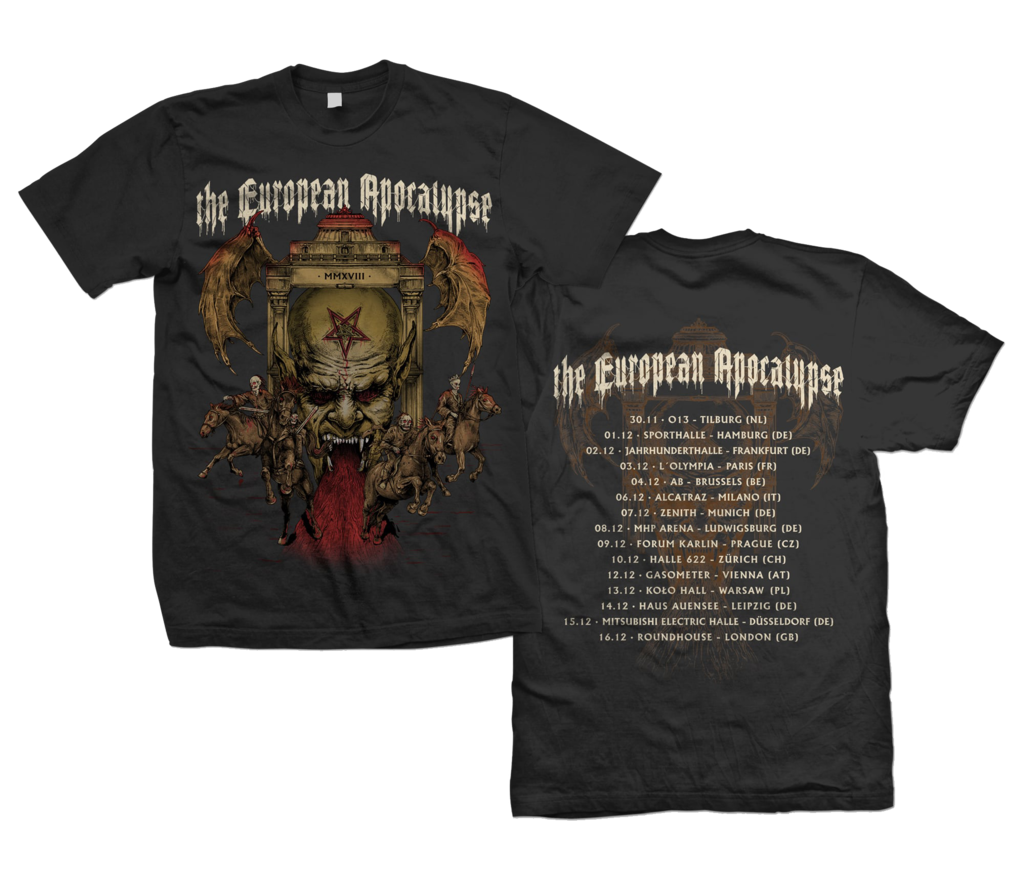 The European Apocalypse Tour 2018 - T-Shirt -