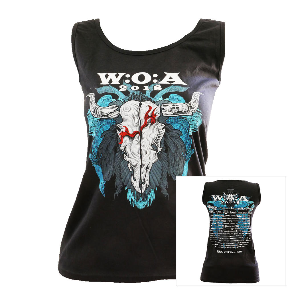 W:O:A - TankTop - Feather Skull 2018 -