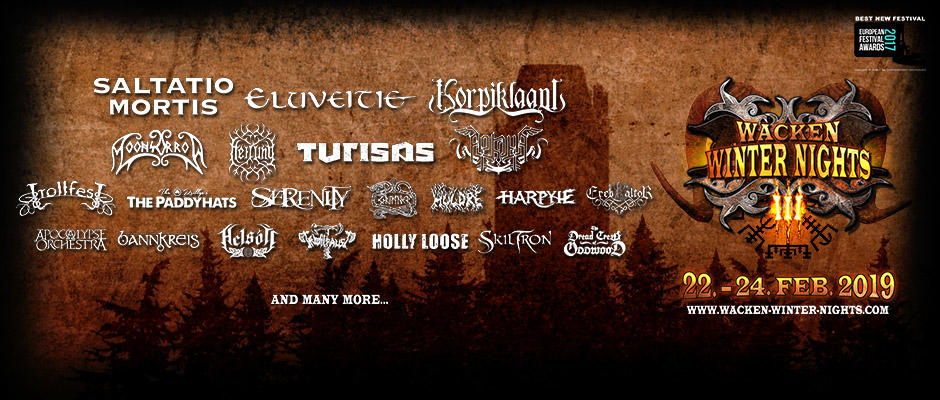 4 neue Bands für die Wacken Winter Nights 2019