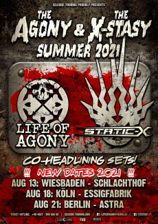 LIFE OF AGONY x STATIC-X | www.metaltix.com