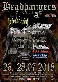HEADBANGERS OPEN AIR 2018  | www.metaltix.com